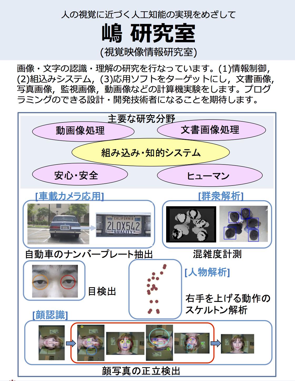 嶋教授 視覚映像情報研究室