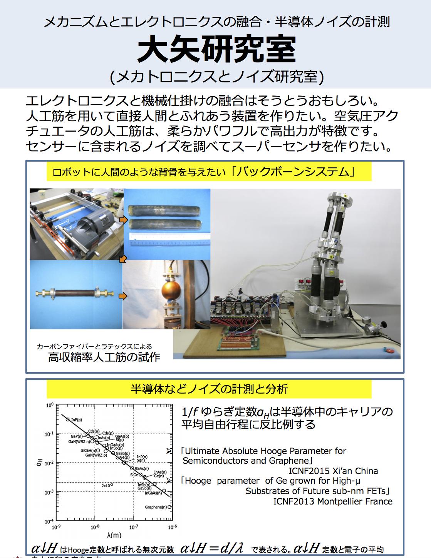 大矢准教授 メカトロニクスとノイズ研究室